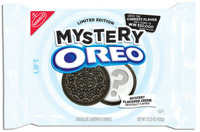 New Sealed Nabisco Limited Edition Mystery Oreo 15.25 Oz Mystery Flavor Creme