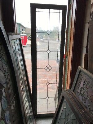 St 1574 Antique Leaded Glass Transom Window 21 X 76.5