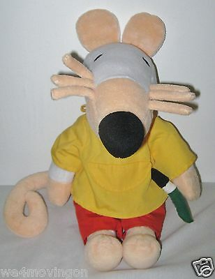 """1999 Maisy Talking Plush~Lucy Cousins~Yellow Smock~Paintbrush~14""""h~Exc Cond"""