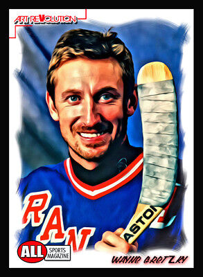 WAYNE GRETZKY Art Revolution by All Sports Magazine Only 6 made!!! RANGERS