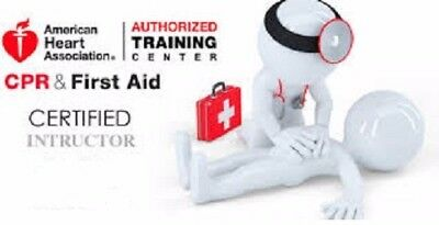 American Heart Association Health Care Provider BLS CPR AED Certification $15.00