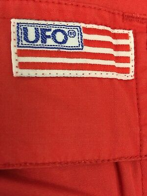 MEDIUM RED UFO PANT! Raver, Hiphop, Dance, skater, goth