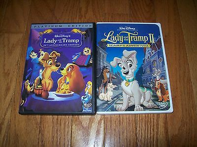 Walt Disney's Lady and the Tramp 1 and 2 on DVD. Both movies, I and II.