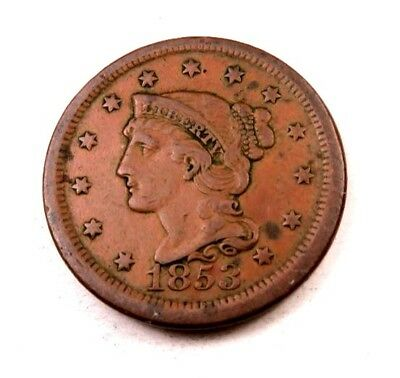 1853 Braided Hair Large Cent // XF *Shows Some Red* // (LC530)