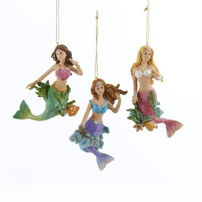 New Kurt Adler Mermaid Ornament, 3 Assorted