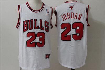 NEW Chicago Bulls #23 Michael Jordan Retro Basketball Player Jersey White