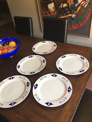 "Arizona Cafe & Grill 12"" Homer Laughlin Cobalt Blue Charger / Dinner Plate"