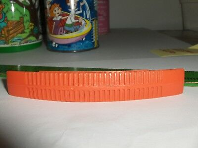 Orange Lunchbox Handle-Double Ribbed-Fits Woody Woodpecker->Rare-Nice-Free To US