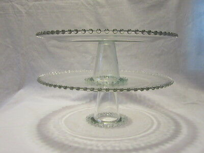 """Imperial Candlewick 13"""" Cake Stand - Set of 2"""
