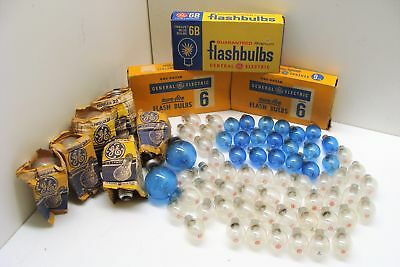Vintage GE General Electric Flashbulbs Photoflash Blue Clear Qty 107