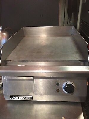 """Griddle, Counter Unit, Electric, 15-1/2""""x16"""" flat surface, Adcraft GRID-16"""