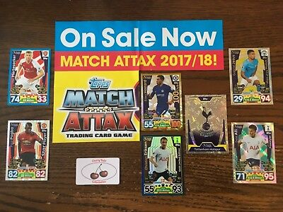 Topps Match Attax Cards, Base, Limited Edition, Club 100, Star Players, Badges