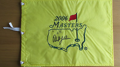Signed 2006 Masters Flag Signed By The Winner Phil Mickelson Exact Proof/COA