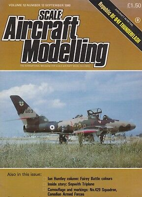 Scale Aircraft Modelling (September 1990) (Fairey Battle, F-84F, No. 429 Squad.)