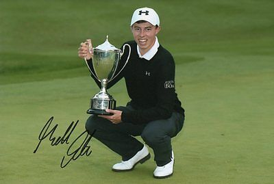 """signed Matthew Fitzpatrick Golfer 12""""x8"""" photo (COA) Ryder Cup Masters"""