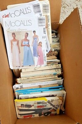 Vintage Sewing Patterns Lot 0F 100 Mostly Women's #1 Cut & Uncut As Is