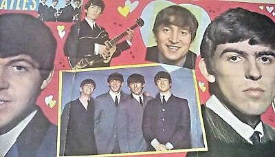 Fantastic 1964 Extra Large Beatles Poster - All Original -  Free Shipping