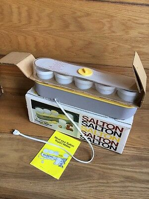 SALTON Vintage Thermostat Controlled Automatic Yogurt Maker 1970s GM-5 5 cups