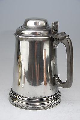 Fine Antique Pewter Rowing Trophy Tankard Weymouth Regatta 1870 Ruby Base Mappin