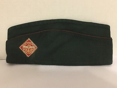 Vintage Official Boy Scouts Garrison Cap Hat Air & Sea Explorers Patch Medium