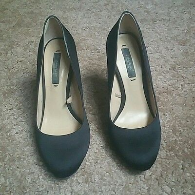 8cfee6dad4a SALE!!! ZARA BASIC Collection Black Satin Heels EU 36