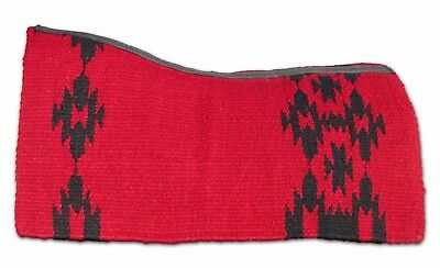 Red Contoured NZ Wool Western Horse Saddle Blanket Dari Pad Large