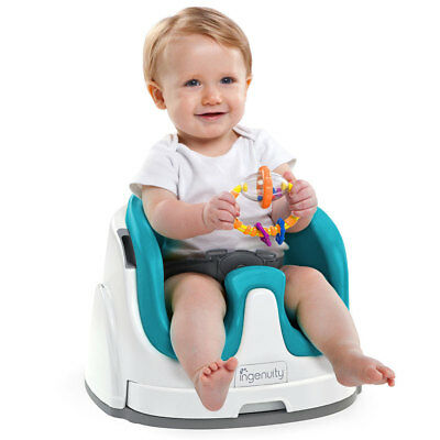 Ingenuity Aqua Baby Base 2-in-1 Seat Infant/Toddler Booster High Chair Portable