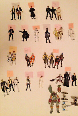 Lot of 35 Star Wars Action Figures Figurines Kenner Hasbro 1997-2015 Mixed Lot