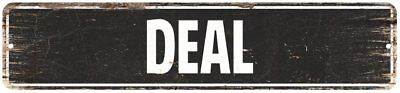 Deal Vintage Look Rustic Metal Sign Chic City State Retro 4x18 4181182