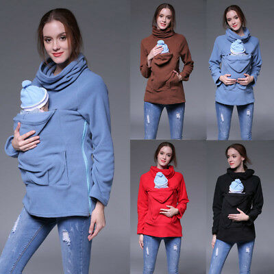Winter Baby Carrier Jacket Kangaroo Maternity Outerwear for Pregnant Women