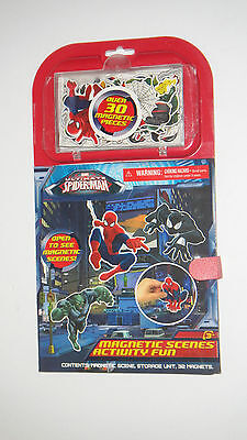 Magnetic Scenes Activity Fun - Over 30 Magnetic Pieces Marvel Spider-Man