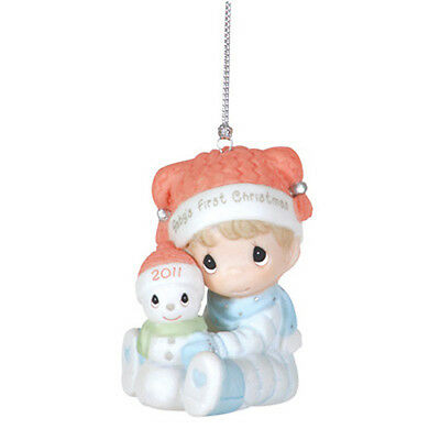 2011 PRECIOUS MOMENTS Baby's First Christmas #111006 boy annual ORNAMENT MIB