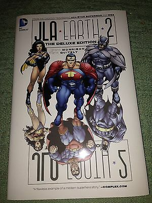 JLA Earth 2 Deluxe Hardcover HC Grant Morrison Frank Quitely Justice Leaugue