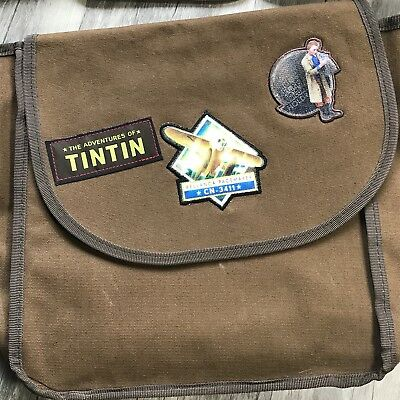 The Adventures of TinTin 2011 Paramount Pictures Messanger Shoulder Bag Brown