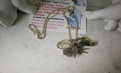 00044 Agate Angel Michael Infused Necklace Doreen Virtue Certified Practitioner