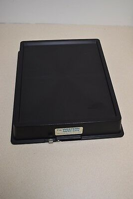 Paper safe 8 X 10 size clean and complete photo paper safe with latch -Good Cond