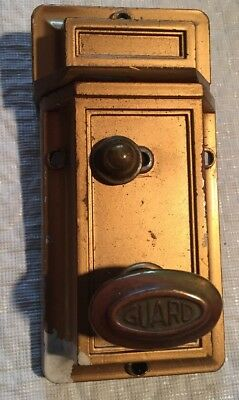 Vintage Guard Door Dead Bolt Latch