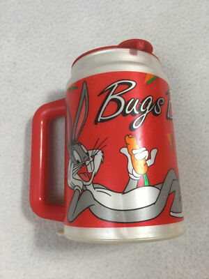 Looney Tunes Bugs Bunny Walmart 1994 Collector Series Coca Cola Red Thermal Mug