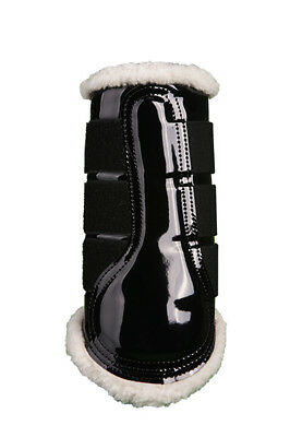 PATENT COMFORT BRUSHING BOOTS - BLACK -by HKM RRP $79.95