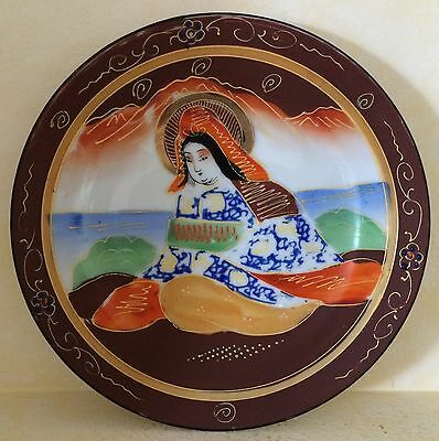 Nippon Japan Hand Painted Plate Accentuated with Gold