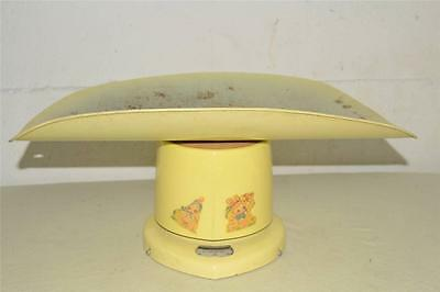 Vtg REXALL Drug WORKING Nursery YELLOW 25# Pound  BABY SCALE Brearley Councelor