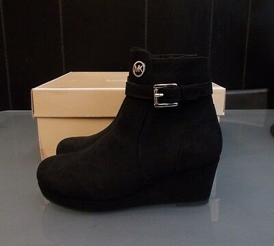 New In Box Girls Size 12 Black Suede Michael Kors Dress Boots