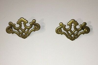 """Brass Key Cover for cabinets, set of two, 2.5"""" screws on center"""