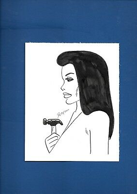 Gilbert Beto Hernandez Bros Luba Sketch Original Art Love And Rockets #1