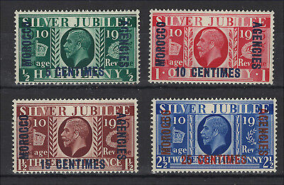 GB - Morocco Agencies 1935 Silver Jubliee - SG 212-215 - Mint Never Hinged