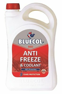 BLUECOL RED 5 YEAR ANTIFREEZE & SUMMER COOLANT concentrate 5L LITRE - BCR005