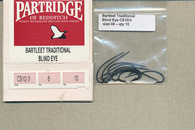 Partridge - CS10/3  - Bartlett Traditional Blind-eye Salmon - size 06 - qty 10