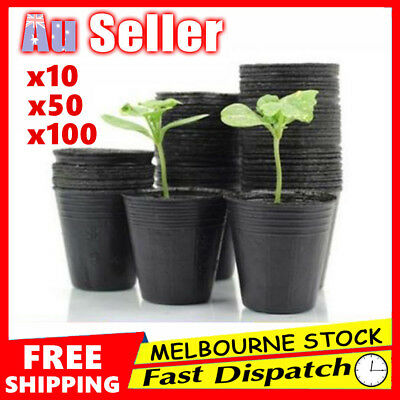 Nursery Pot Bag Plant Plastic Seedling Pouch Holder Raising  Home Garden Bulk