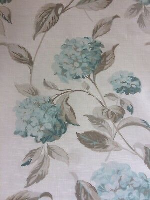 Laura Ashley Hydrangea Fabric - Duck Egg - 1m - (More Available)