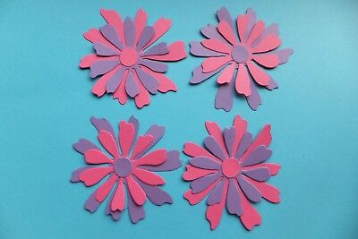 4 handmade decorative flowers craft scrapbooking gift wrapping